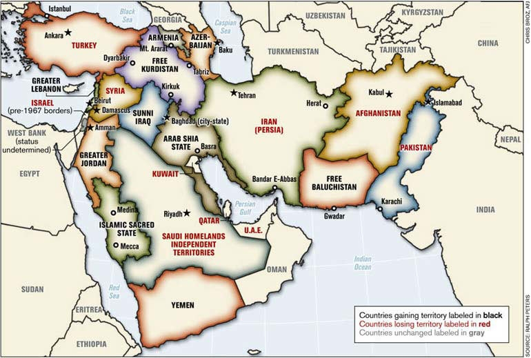 Proposed Map Of Middle East - Map of me